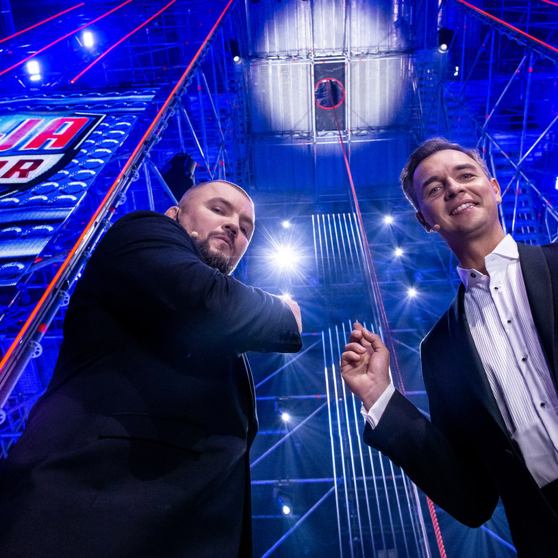 """Gospodarze programu - Jerzy Mielewski i Łukasz """"Juras"""" Jurkowski /Polsat"""