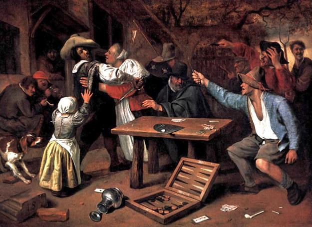 Gra w karty  była jedną z popularnych rozrywek wśród gości karczm /Agnieszka Lisak – blog historyczno-obyczajowy
