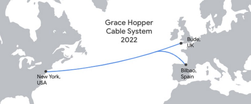 Grace Hopper połączy Nowy Jork z Bude i Bilbao Fot. Google /materiał zewnętrzny
