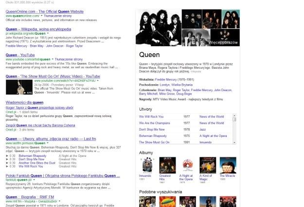 Graf wiedzy Google wzbogacił się o nowe funkcje muzyczne /materiały prasowe