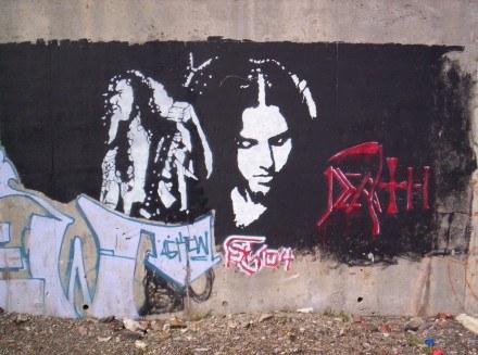Graffiti w Kanadzie upamiętniające lidera Death /