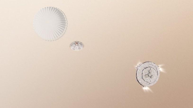 Grafika prezentująca lądowanie EDM Schiaparelli /materiały prasowe