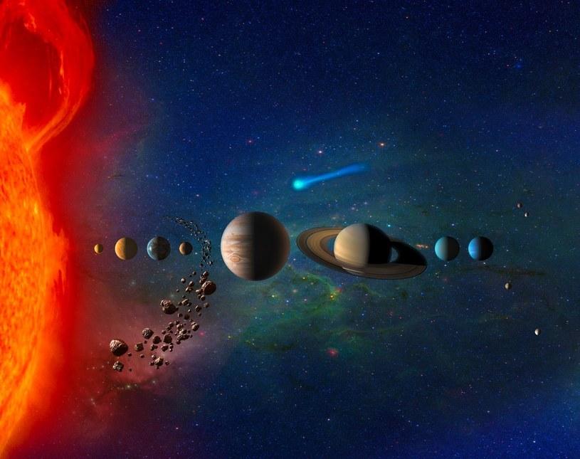 Grafika prezentująca mnogość celów do eksploracji w Układzie Słonecznym /NASA