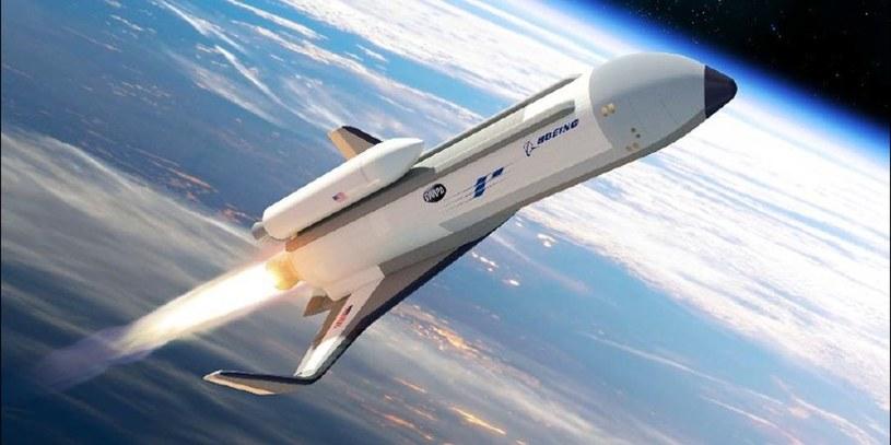 Grafika prezentująca rakietoplan XS-1 /materiały prasowe