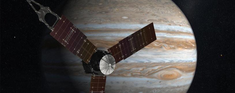 Grafika przedstawiająca sondę Juno /materiały prasowe