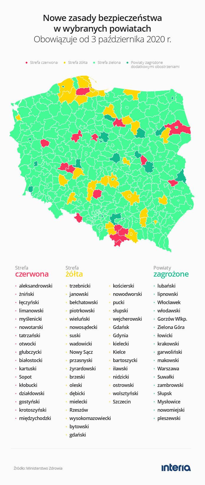 Grafika - strefy żółte i czerwone /INTERIA.PL