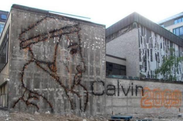 Grafitti stworzone przy pomocy urządzenia Facadeprinter fot. facadeprinter.org /kopalniawiedzy.pl