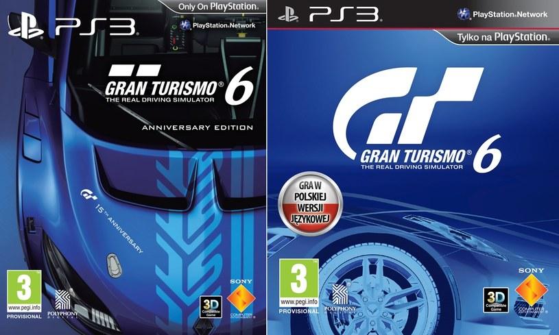 """Gran Turismo 6 - polskie wersje okładek. Od lewej """"Anniversary Edition"""" i klasyczna /materiały prasowe"""