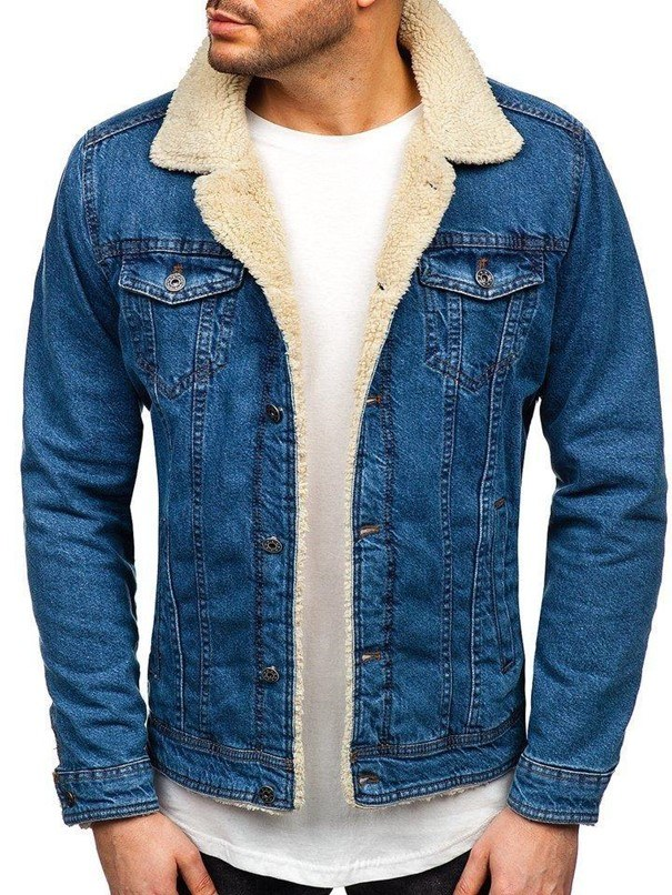 Granatowa kurtka jeansowa /materiały promocyjne