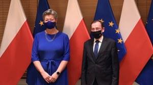 Granica polsko-białoruska. Mariusz Kamiński spotkał się z unijną komisarz