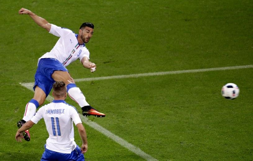 Graziano Pelle strzela gola na 2-0 dla Włochów /PAP/EPA