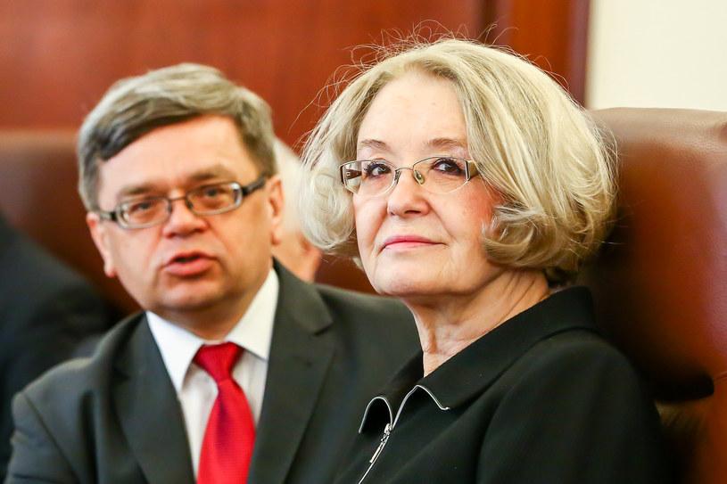 Grazyna Ancyparowicz i Eugeniusz Gatnar, członkowie RPP /KAROL SEREWIS /Getty Images