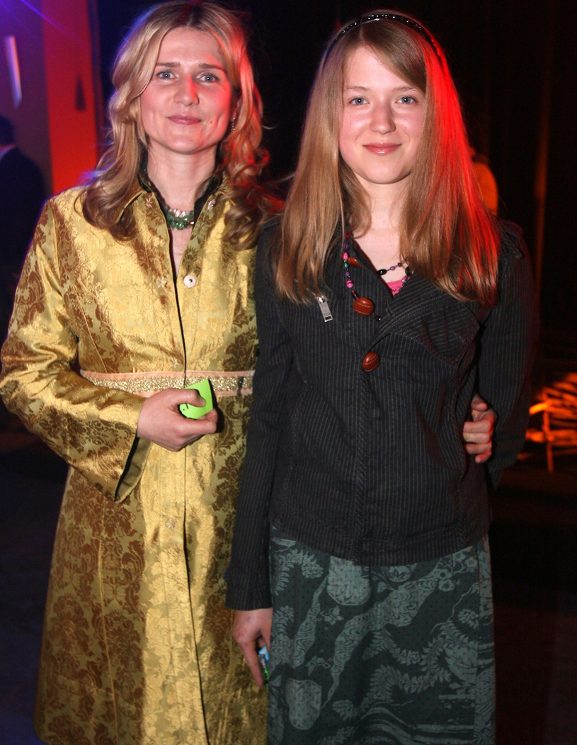 Grażyna Błęcka-Kolska z córką Zuzanną, 2006 rok /Piotr Fotek /Reporter