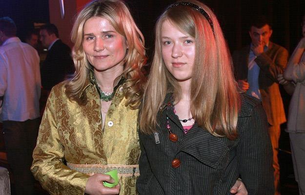 Grażyna Błęcka-Kolska z córką Zuzanną w 2006 roku /AKPA