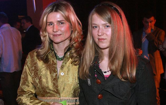 Grażyna Błęcka-Kolska z córką /- /AKPA