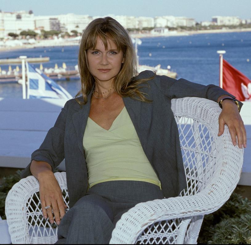Grażyna Torbicka podczas festiwalu filmowego Cannes 2000 /Darek Majewski /Reporter