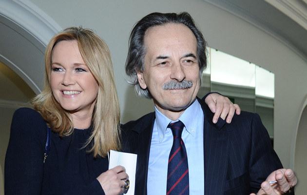 Grażyna Torbicka z mężem Adamem, fot.Andras Szilagyi  /MWMedia