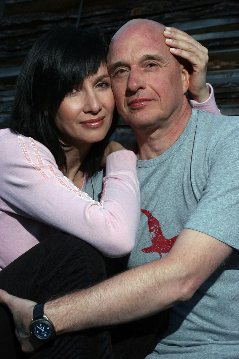 Grażyna Wolszczak i Cezary Harasimowicz w 2005 roku /AKPA