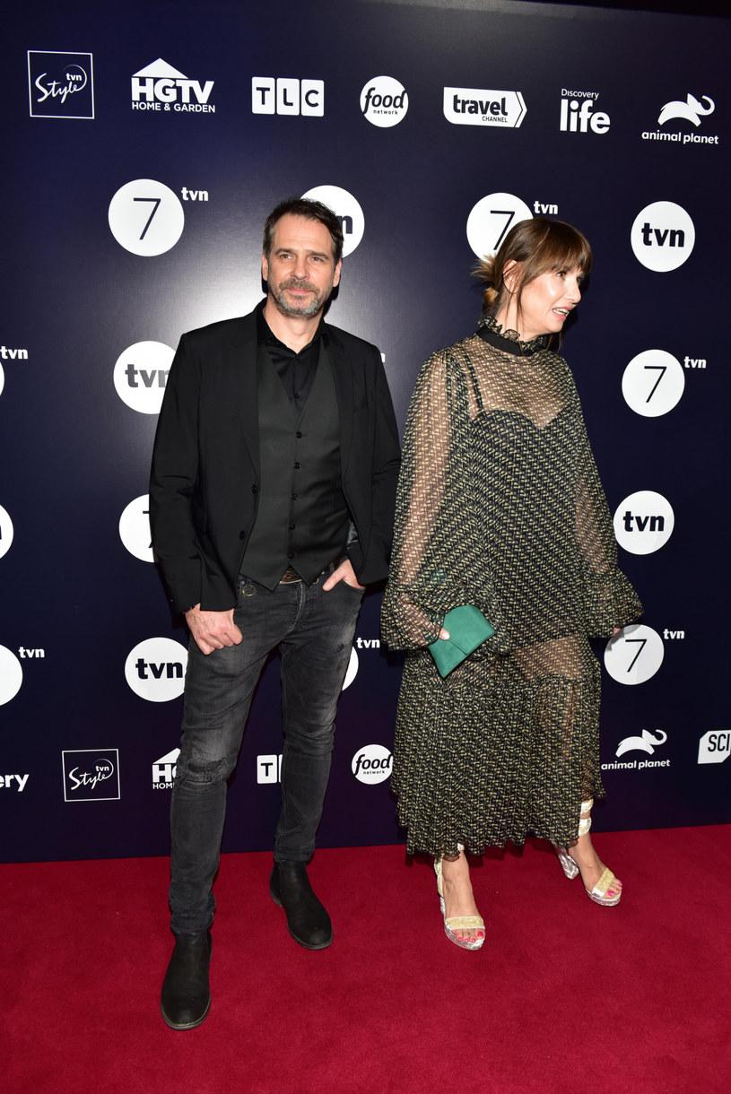 Grażyna Wolszczak pozowała do zdjęć z Pawłem Delągiem /Piotr Fotek /Reporter