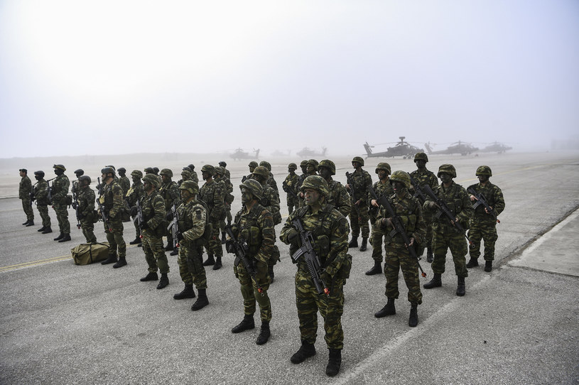 Greccy żołnierze podczas ćwiczeń; zdj. ilustracyjne /AFP