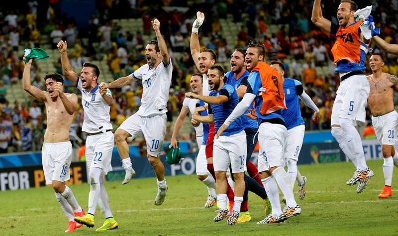Grecja cieszy się ze zwycięstwa /SERGEY DOLZHENKO /PAP/EPA