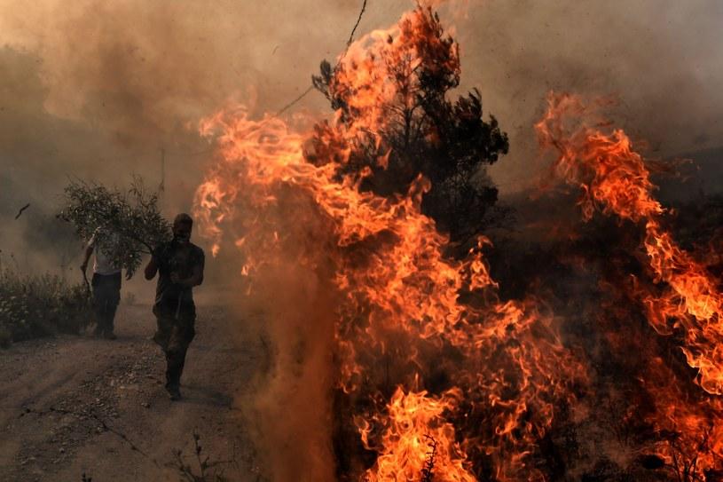 Grecja płonie /AFP PHOTO / ARIS MESSINIS /East News