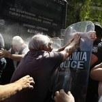 Grecja: Policja gazem pieprzowym próbowała rozpędzić emerytów