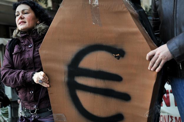 Grecja rozważa wystąpienie ze strefy euro? /AFP