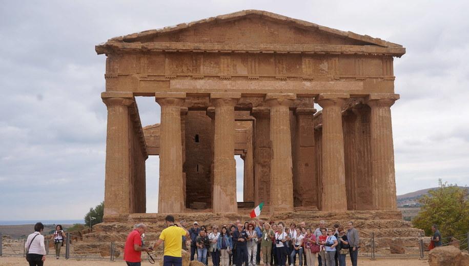 Grecka świątynia w Agrigento /Richard Gray /PAP/EPA