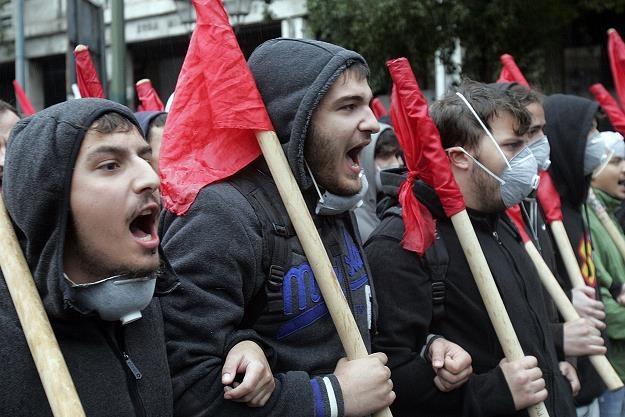 Grecka ulica jest mocno rozpolitykowana. Fot. Milos Bicanski /Getty Images/Flash Press Media