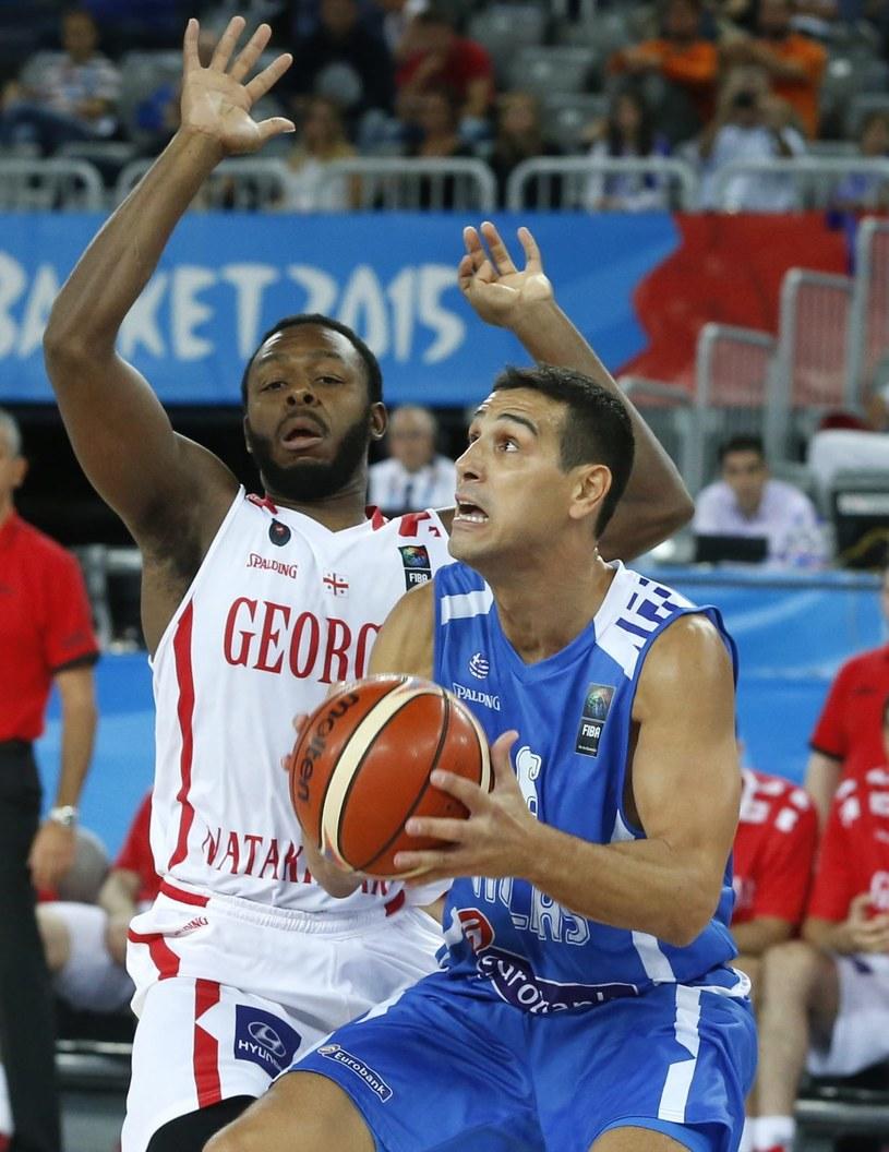 Grecki koszykarz Nikos Zisis /PAP/EPA