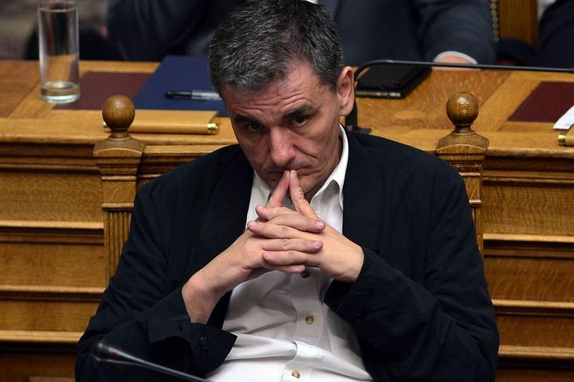 Grecki minister finansów Euklid Cakalotos /LOUISA GOULIAMAKI /AFP