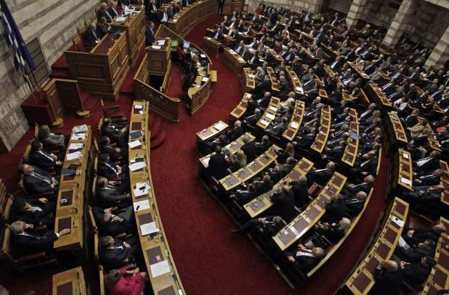 Grecki parlament /ORESTIS PANAGIOTOU /PAP/EPA