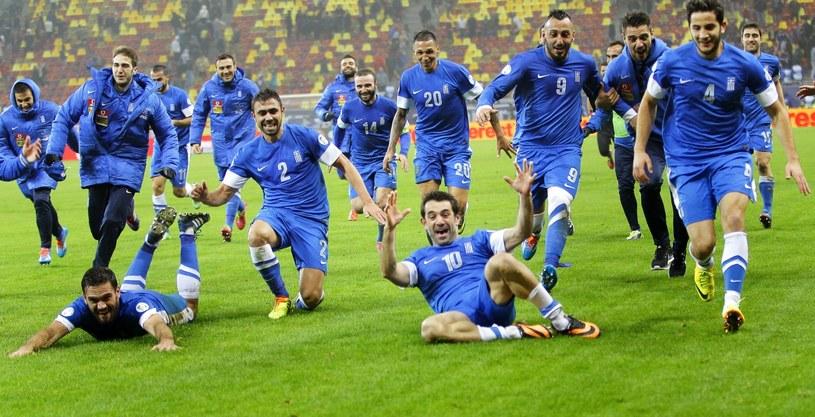 Grecy świętują awans na mundial /PAP/EPA