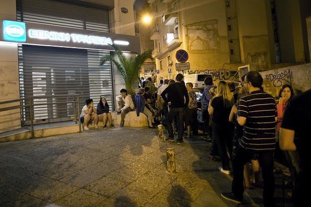 Grecy w nocy szturmują bankomaty /AFP
