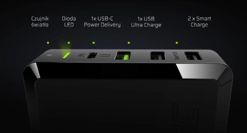 Green Cell Power Source - w sumie 4 porty do ładowania (jeden obsługujący Power Delivery, drugi Ultra Charge, pozostałe dwa - Smart Charge) /materiały prasowe