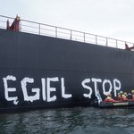 Greenpeace protestuje w Zatoce Gdańskiej. Aktywiści zwodowali pontony