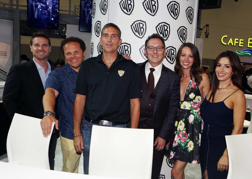 Greg Plageman, Kevin Fusco, Jim Caviezel, Michael Emerson, Amy Acker, Sarah Shahi /Handout /Getty Images