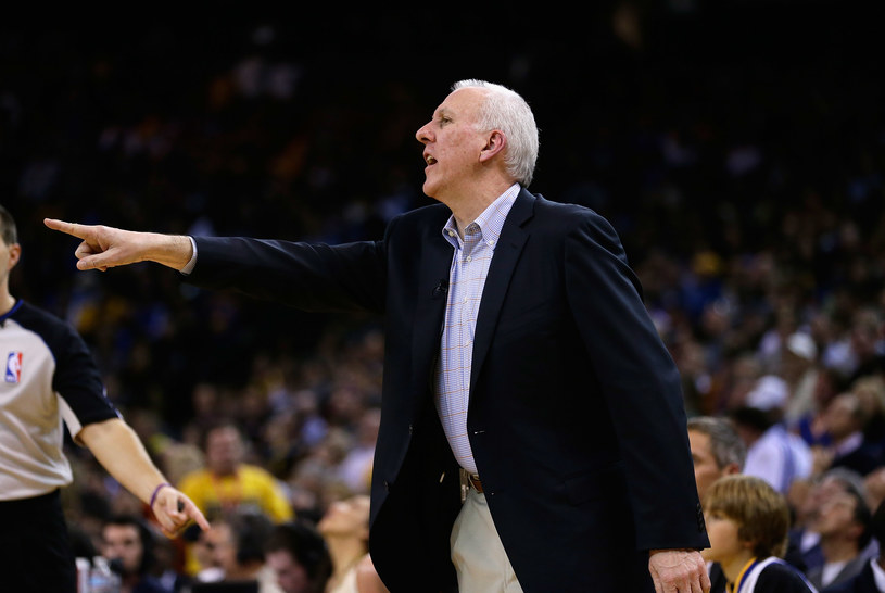Gregg Popovich, szkoleniowiec San Antonio Spurs /Ezra Shaw /Getty Images