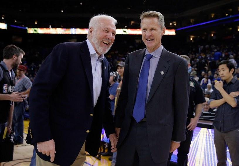 Gregg Popovich (z lewej) i Steve Kerr /AFP