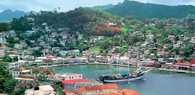 Grenada, przystań St. George's /Encyklopedia Internautica