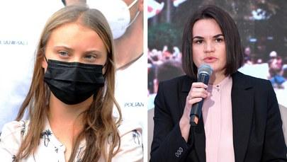 Greta Thunberg i Swiatłana Cichanouska /MAURIZIO MAULE/ Darek Delmanowicz /PAP/EPA