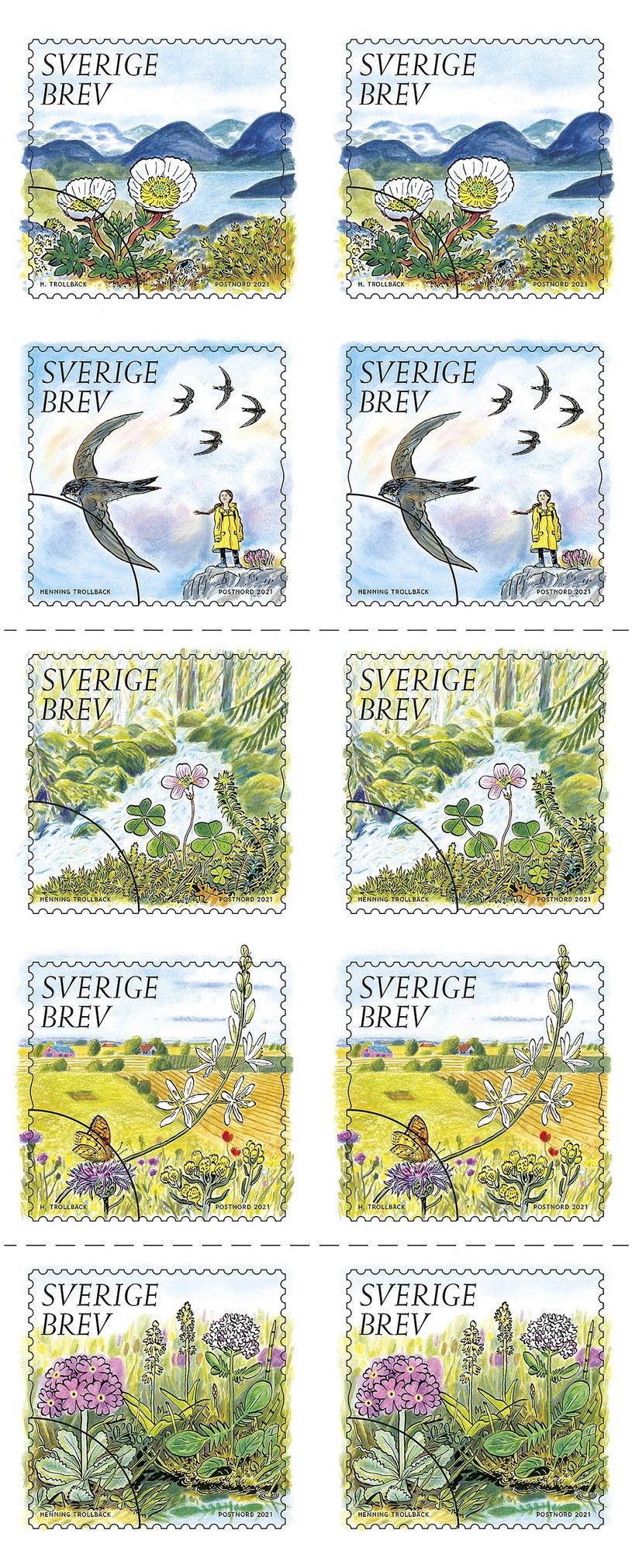 Greta Thunberg na szwedzkim znaczku pocztowym /PAP/EPA