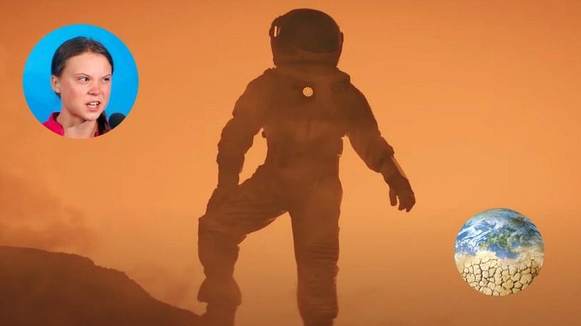 Greta Thunberg, podobnie jak Bill Gates, żartuje z ludzi, którzy marzą o podróży na Marsa /Geekweek