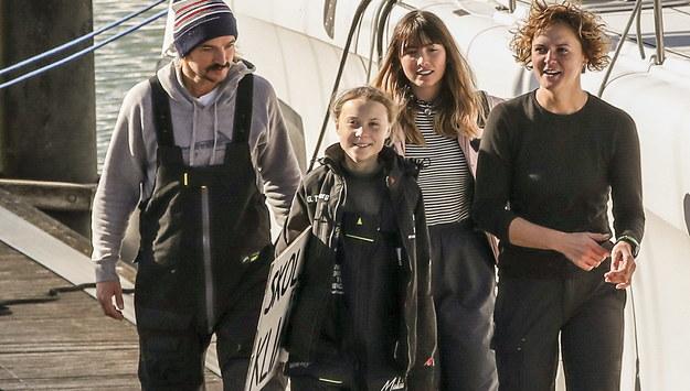 Greta Thunberg w Lizbonie /MANUEL DE ALMEIDA  /PAP/EPA