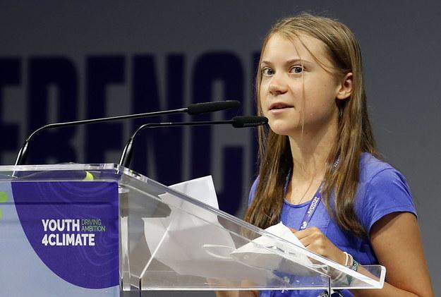 Greta Thunberg /MATTEO BAZZI    /PAP/EPA