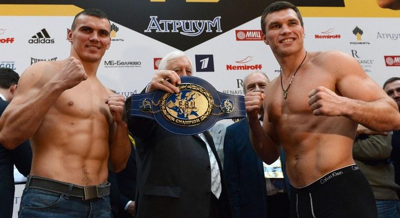 Grigorij Drozd (z prawej) i Mariusz Masternak /AFP