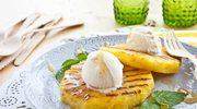 Grillowany ananas z lodami