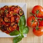 Grillowany bakłażan  z pomidorami i natką
