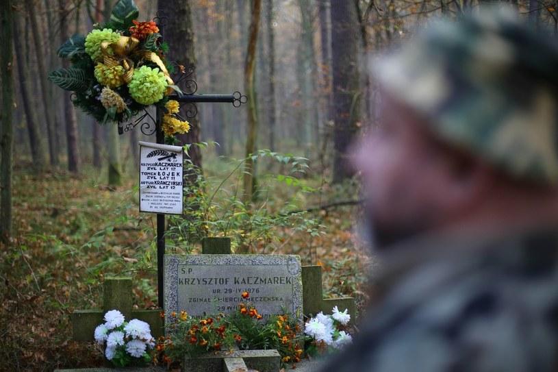 Grób chłopców zamordowanych przez Trynkiewicza. /Adam Staśkiewicz /East News